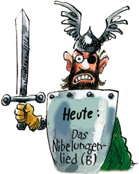 "Bild: Comic ""Das Nibelungenlied"" (Detail)"